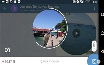 پیام ویدیویی و تلسکوپ در تلگرام