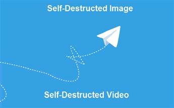 ارسال تصویر و ویدیوی حذف شونده در تلگرام