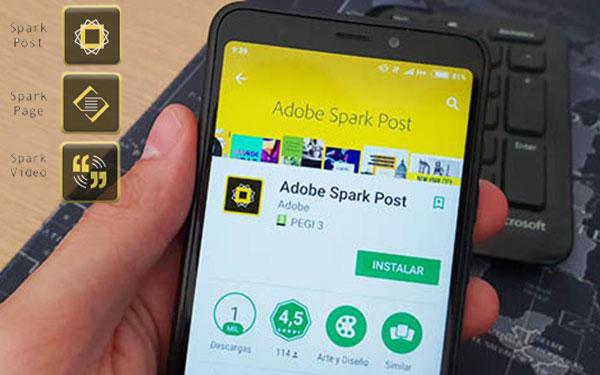 اپلیکیشن Adobe Spark Post