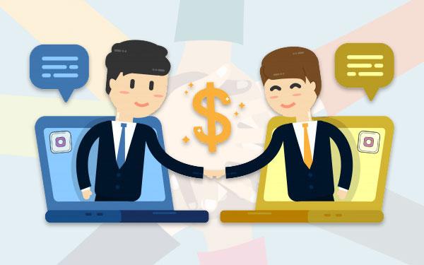 همکاری در فروش به عنوان کار در اینستاگرام